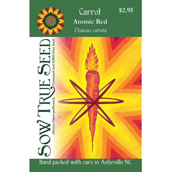 Atomic carrot seed packet