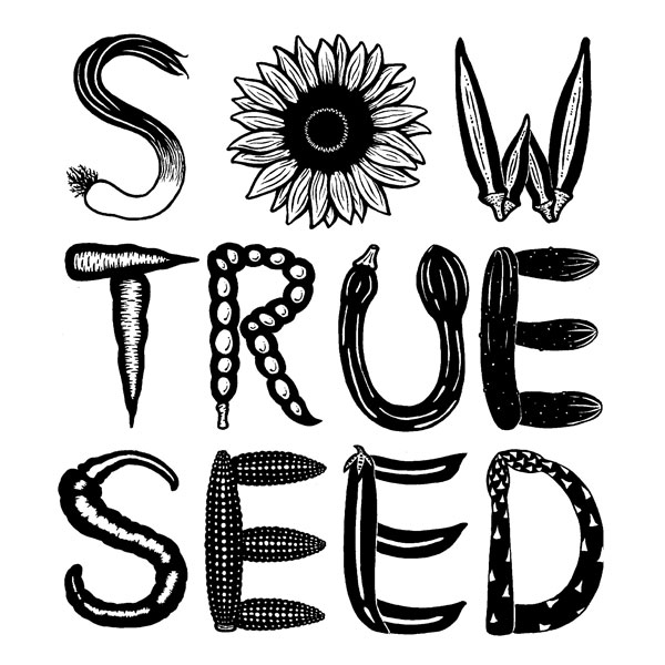 Sow true seed t-shirt design