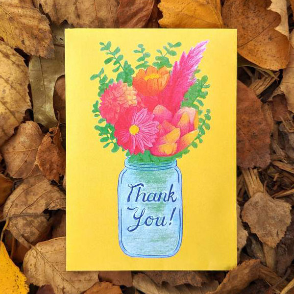 Thank you seed packet illustration